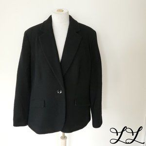 Jones New York Signature Blazer Jacket Black Wool